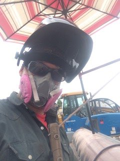 Man welder mask bear country school of welding greeley-colorado
